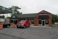 Pizza Hut and Bassetts Market Convenience Store During Construction